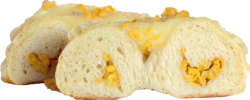 コーンチーズベーグル カット